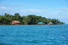 Coast of Carenero island in Bocas del Toro Panama Royalty Free Stock Photography