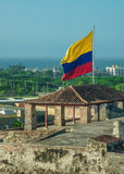 Coast of Cartagena Cartagena from San Felipe de Barajas Fortress Stock Image