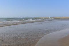 The coast of the Caspian Sea Stock Photography