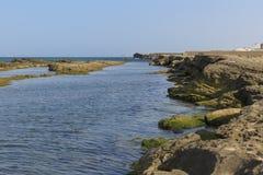 The coast of the Caspian Sea Royalty Free Stock Photos