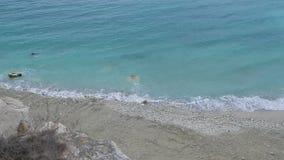 Coast of the Caspian Sea. stock footage