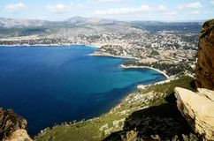The coast of Cassis,South France. The coast of Cassis in Provence near Marseille,South France Royalty Free Stock Image