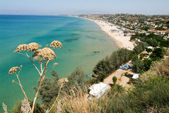 The coast of Castellammare del Golfo on Sicily, Italy Royalty Free Stock Photography
