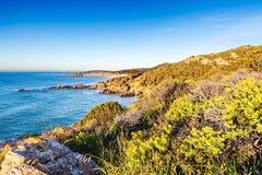 Coast of Chia-Spartivento. Sardinia stock image