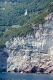The coast of Cinque Terre on Liguria Stock Images