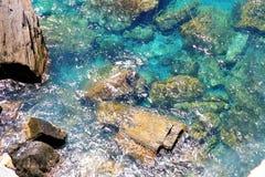 Coast of the Cinque Terre Royalty Free Stock Photos