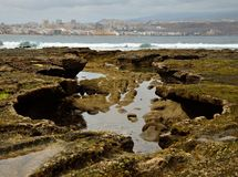 Coast  and city, Gran canaria Royalty Free Stock Images