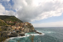 The coast of a city in Italy Stock Image
