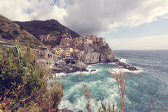 The coast of a city in Italy Royalty Free Stock Images