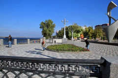 Coast in the city of Samara, Russian Federation. On the coast of Volga River in Russia,  Samara city Royalty Free Stock Photography