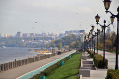 Coast in the city of Samara, Russian Federation. On the coast of Volga River in Russia, Samara city Stock Photography