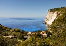 Coast Cliffs on greek island Royalty Free Stock Image