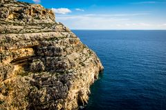 Coast and cliffs of Malta. The coasts and cliffs of of Malta are very nice for a trip Royalty Free Stock Photography
