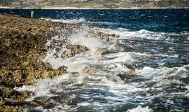Coast and cliffs of Malta. The coasts and cliffs of of Malta are very nice for a trip Royalty Free Stock Photos