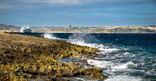 Coast and cliffs of Malta. The coasts and cliffs of of Malta are very nice for a trip Royalty Free Stock Image