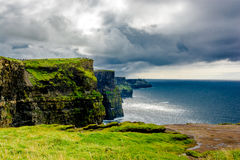 Coast at the Cliffs Of Moher In Ireland Stock Image