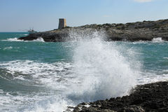 Coast close to Vieste, Gargano Stock Photos