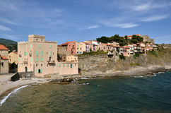 Coast of Collioure in France Stock Photography