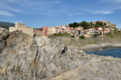 Coast of Collioure in France Royalty Free Stock Photo
