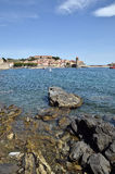 Coast of Collioure in France Royalty Free Stock Image