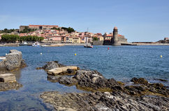 Coast of Collioure in France Stock Images