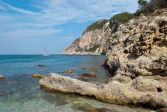 Coast of Corfu Royalty Free Stock Images