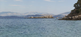 Coast of Corfu Stock Photography