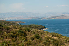 Coast of Corfu Stock Images