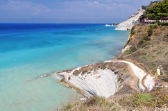 Coast at Corfu island in Greece Royalty Free Stock Images