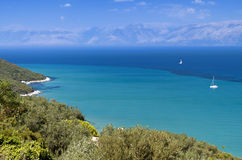 Coast at Corfu island in Greece Royalty Free Stock Photo