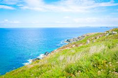 Coast of Cornwall in St. Ives, England stock image