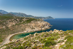 Coast of Corsica between Galeria and Calvi Royalty Free Stock Photos