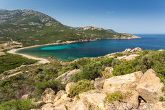 Coast of Corsica between Galeria and Calvi Stock Images