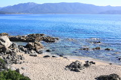 Coast on Corsica Island, France Stock Images