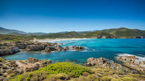 The coast of Corsica and Ostriconi beach Royalty Free Stock Photography