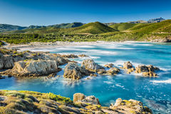 The coast of Corsica and Ostriconi beach Stock Photography