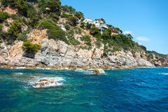Coast of Costa Brava Catalonia Stock Photography