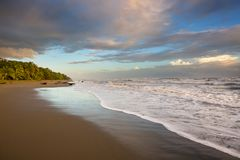 Coast in Costa Rica. Beautiful tropical Pacific Ocean coast in Costa Rica Stock Images