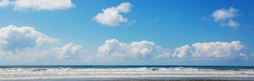 Coast in Costa Rica. Beautiful tropical Pacific Ocean coast in Costa Rica Royalty Free Stock Photos
