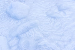 Coast covered with ice in the Sea of Okhotsk Royalty Free Stock Image