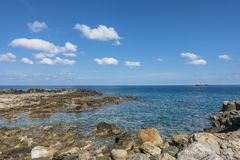 Coast of Crete island. In the port in Iraklion , Greece , Europe Stock Image