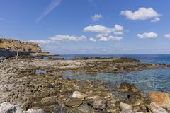 Coast of Crete island Stock Images