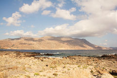 Coast of Crete island in Greece Royalty Free Stock Photos