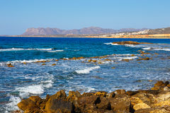 Coast of Crete island near Chania Stock Photos