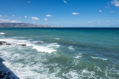 Coast of Crete island. In the port in Iraklion , Greece , Europe Royalty Free Stock Photography