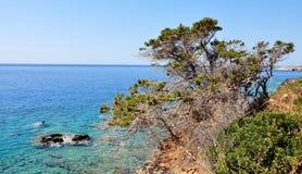 Coast of Crete. At summer, Greece Royalty Free Stock Image