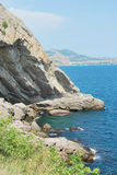 The coast of Crimea. The black sea Royalty Free Stock Photo