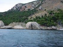 Coast of the Crimean peninsula Stock Photography