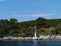 The coast of the Croatian Saint Petar island Stock Photos