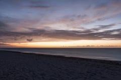 The coast of Cuba. Varadero beach. Sunset. Stock Photography